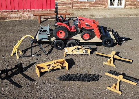 2017 John Deere 1025R Tractor Loader with Backhoe - KIOTI Tractors