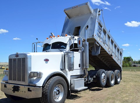 2001 WESTERN STAR 5800 triple axle grapple truck - Peterbilt Dump Trucks