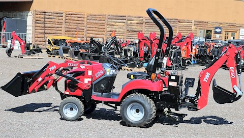 2020 TYM T47HSTC-TL CAB Tractor 48HP 4x4 HYSTAT WITH BOX BLADE - TYM Tractors