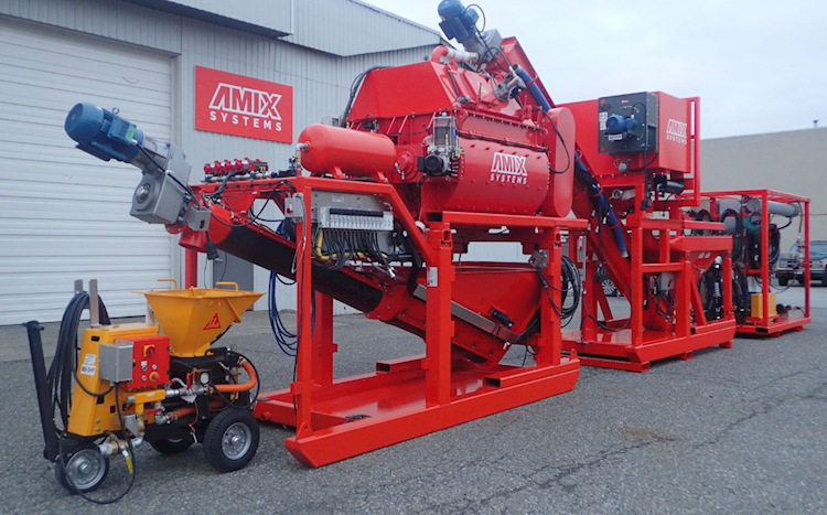 2016 Amix Systems Wet/Dry Shotcrete Plant - Amix Systems Aggregate Equipment