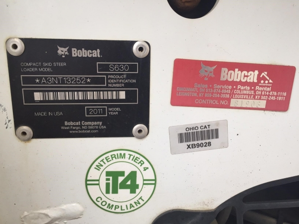 2011 Bobcat S630 - Bobcat Loaders