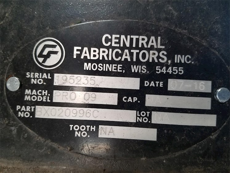 2016 CENTRAL FABRICATORS BX020996C - CENTRAL FABRICATORS Attachments