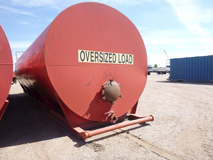 Custom Built 500 Barrel Skid Mounted Frac Tank (2622) - Custom Built Trailers