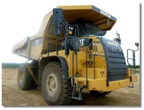Caterpillar 772 - Caterpillar Rock Truck