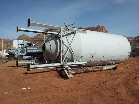Custom Built Cement Powder Silo 60 Ton 275 BBL (2674) - Custom Built Aggregate Equipment
