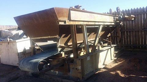 "Custom Built 30"" Screen Hopper built for El-Jay Screen Box (2280) - Custom Built Aggregate Equipment"