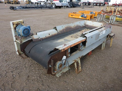 2005 Custom Built 8ft Conveyor w/Siemens 3HP Electric Motor (2649) - Custom Built Aggregate Equipment