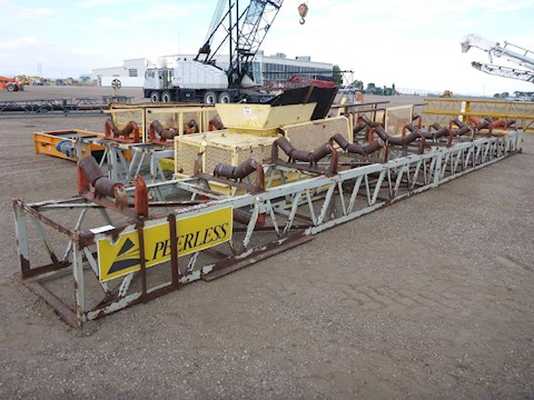 2002 Peerless 100ft Conveyor w/10hp Tatung Electric Motor (2659) - Peerless Aggregate Equipment
