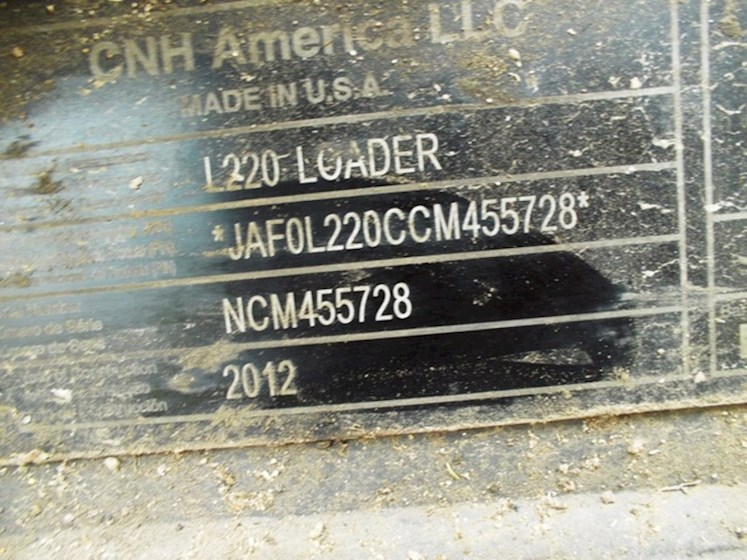 2012 New Holland L220CHAM2 - New Holland Loaders