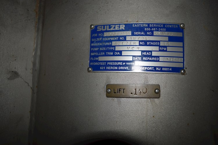 Sulzer VCR 10 Stage for sale $3,500 | Machinery Marketplace | C2C3DFF8