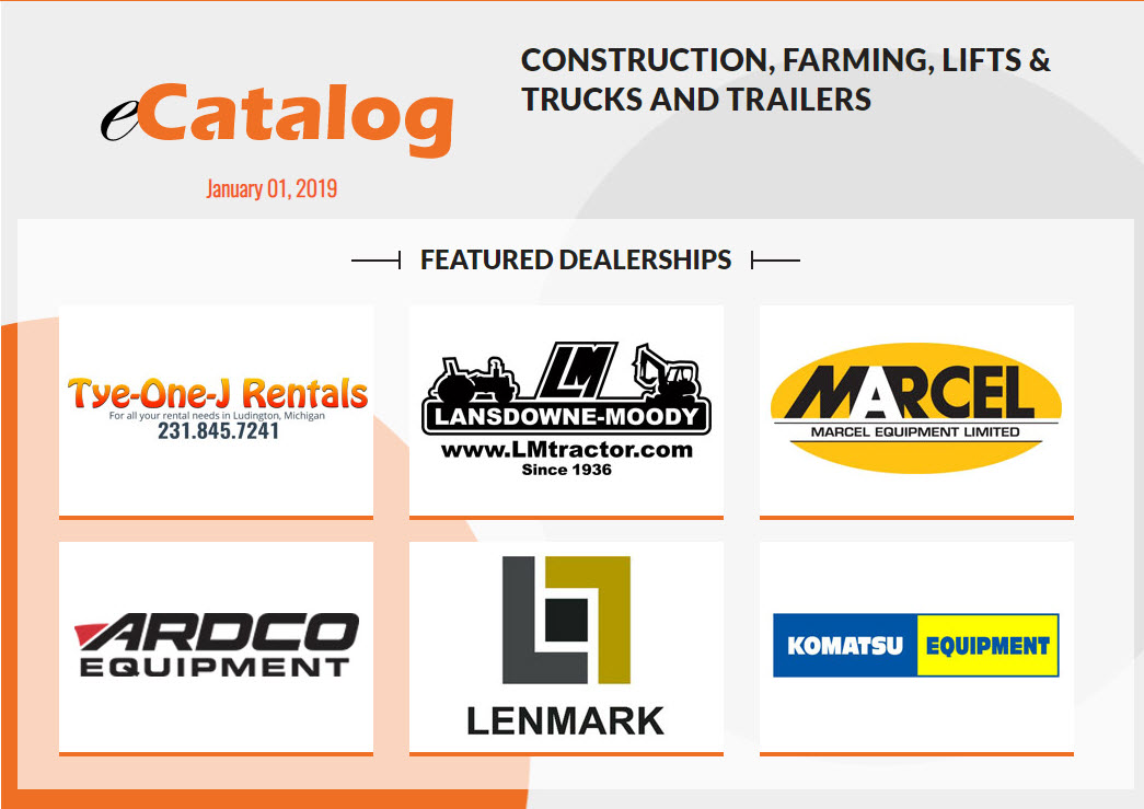 Construction, Farming, Lifts & Trucks and Trailers - January 01, 2019