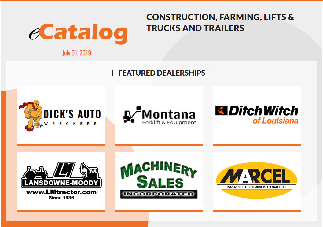 Construction, Farming, Lifts & Trucks and Trailers - July 01, 2019