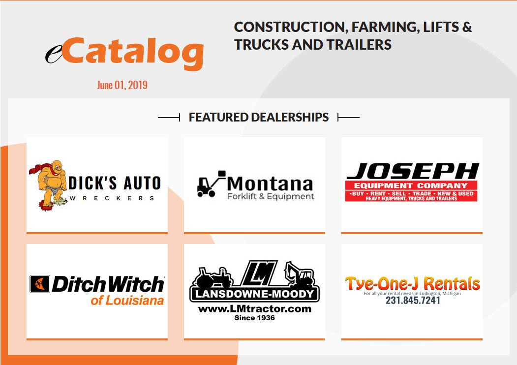 Construction, Farming, Lifts & Trucks and Trailers - June 01, 2019