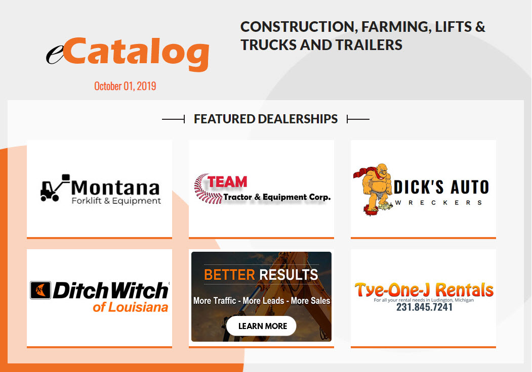 Construction, Farming, Lifts & Trucks and Trailers - October 01, 2019