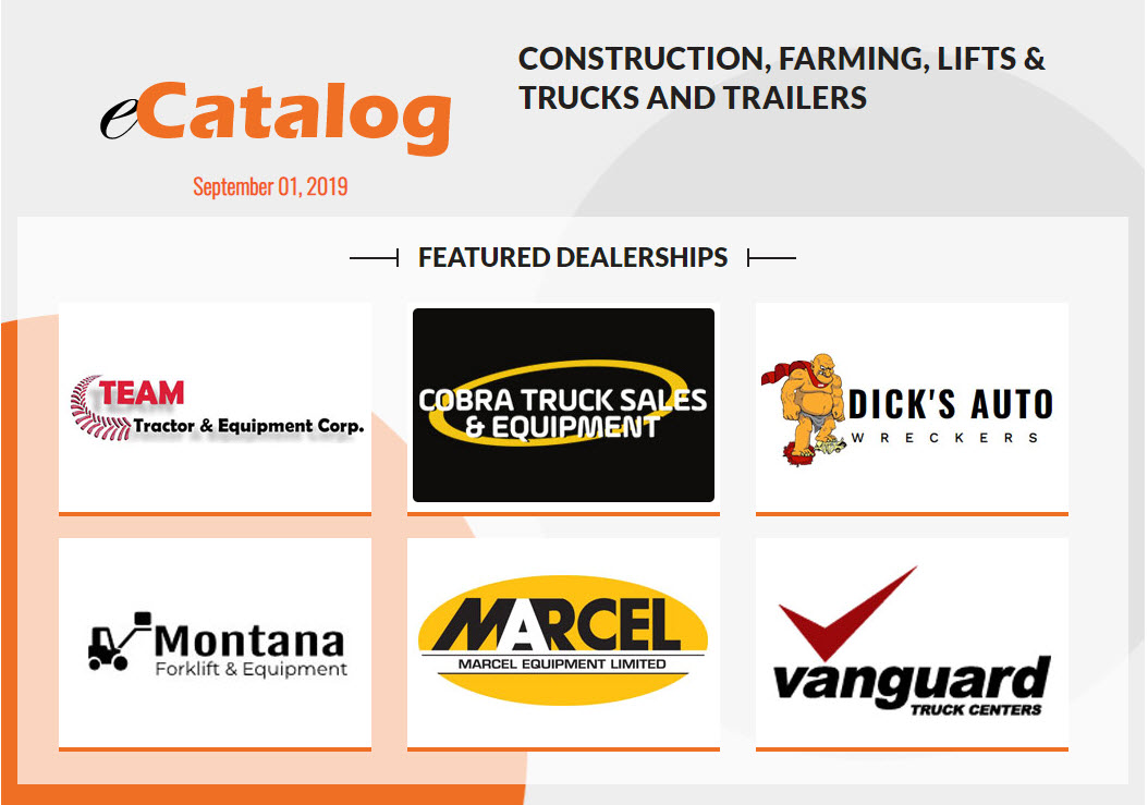 Construction, Farming, Lifts & Trucks and Trailers - September 01, 2019